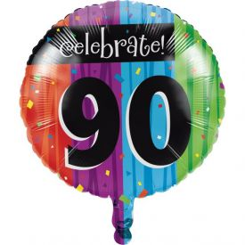 Milestone Celebrations Metallic Balloon, 90th