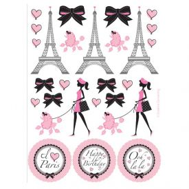 Party in Paris Stickers, Value