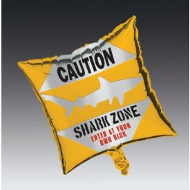 Shark Splash Metallic Balloon, Square