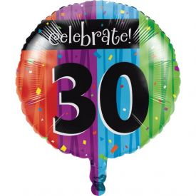 Milestone Celebrations Metallic Balloon, 30th