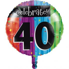 Milestone Celebrations Metallic Balloon, 40th