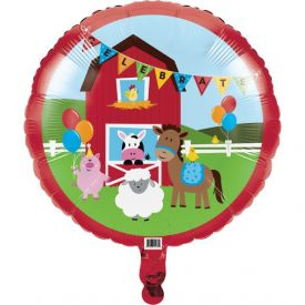 Farmhouse Fun Metallic Balloon, Theme Shaped