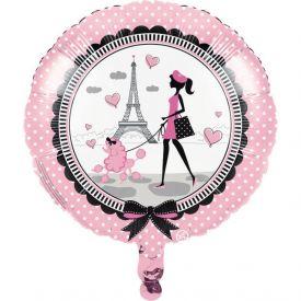 Party in Paris Metallic Balloon
