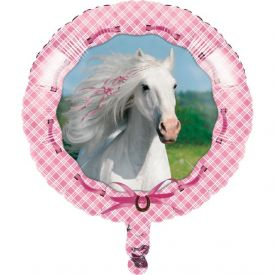 Heart My Horse Metallic Balloon, Happy Birthday