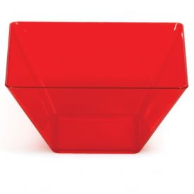 Trendware Translucent Red Square Bowls 3.5