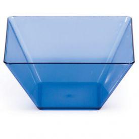 Trendware Translucent Blue Square Bowls 3.5