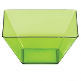 Trendware Translucent Green Square Bowls 3.5