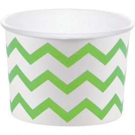 Lime & White Treat Cups