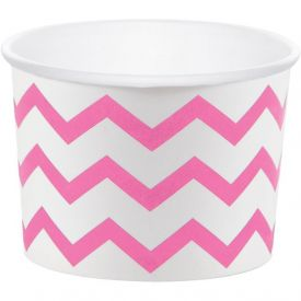 Treat Cups, Chevron Stripe, Pink