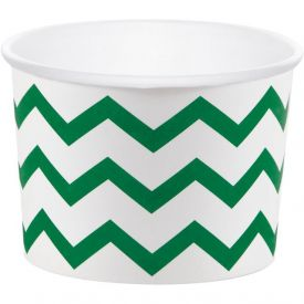 Green & White Treat Cups