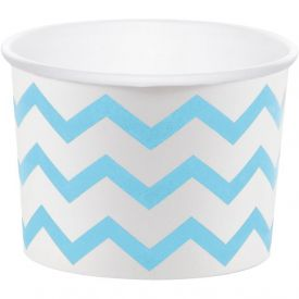 Treat Cups, Chevron Stripe, Pastel Blue