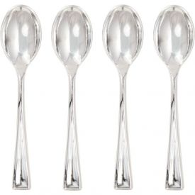 Mini Metallic Plastic Spoons