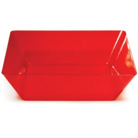 Trendware Translucent Red Square Bowls 11