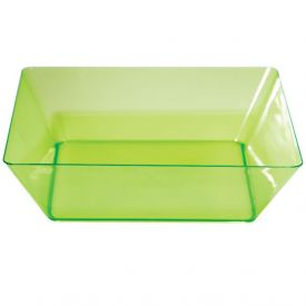 Trendware Translucent Green Square Bowls 11