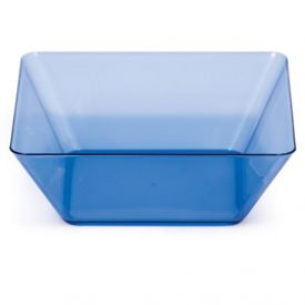 Trendware Translucent Blue Square Bowls 5