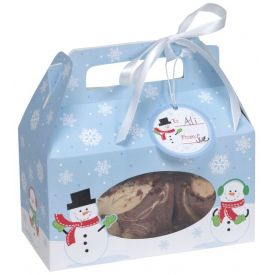 Snowman Cookie Boxes, w/ Handle
