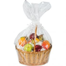 Clear Cello Basket Bags, Large