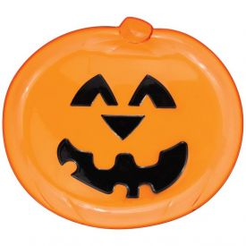 Pumpkin Serving Tray Plastic Translucent 12.5