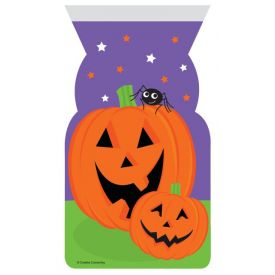 Pumpkin Face Cello Zip Shaped Bags
