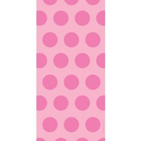 Cello Bags, Two-Tone, Candy Pink Dots