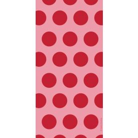 Classic Red Dots Cello Bags, Two-Tone