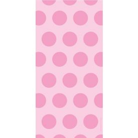 Cello Bags, Two-Tone, Classic Pink Dots