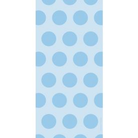 Cello Bags, Two-Tone, Pastel Blue Dots