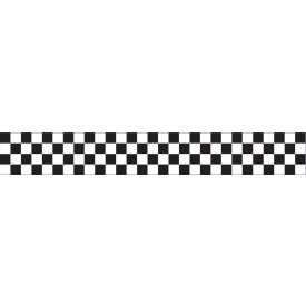 Crepe Streamer Black and White Check 30'