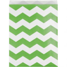 Fresh Lime Chevron Paper Treat Bags Large
