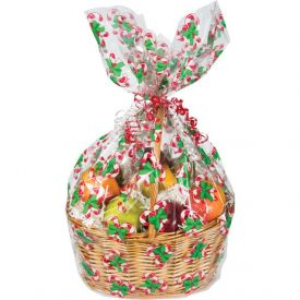 Candy Cane Cello Basket Bags Large