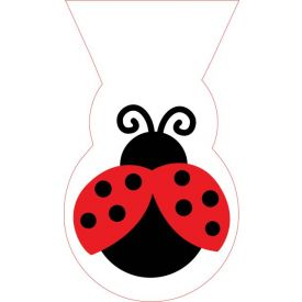 Ladybug Fancy Cello Bags, Shaped