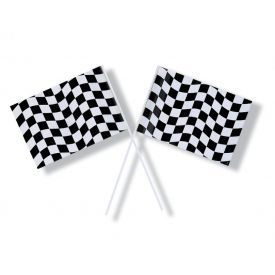 Black & White Check Flag, Plastic Small 6.25