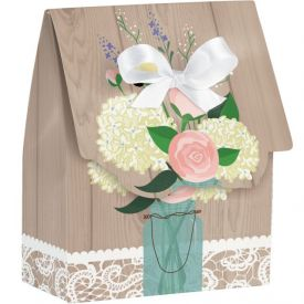 Rustic Wedding Favor Bags Diecut with Ribbon