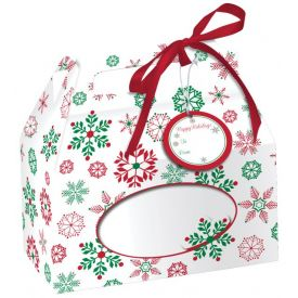 Snowflake Cookie Boxes, w/ Handle