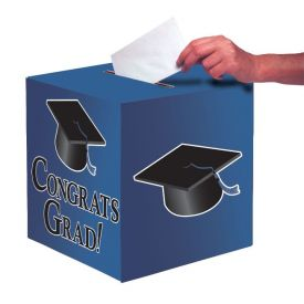 True Blue Congrats Grad Card Box