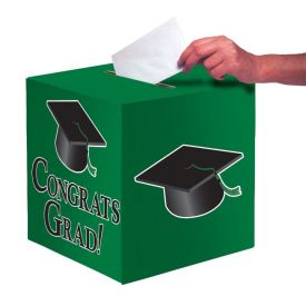 Em Green Congrats Grad Card Box