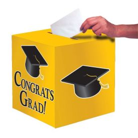 Yellow Congrats Grad Card Box