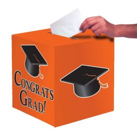 Orange Congrats Grad Card Box
