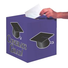 Purple Congrats Grad Card Box