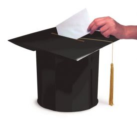 Graduation Black Mortarboard Shaped Card Boxes 12