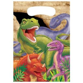 Dino Blast Loot Bags, Plastic