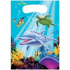 Ocean Party Loot Bags, Plastic