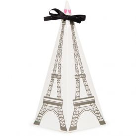 Party in Paris Favor Boxes Cone Shaped with Handle