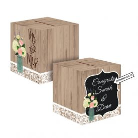 Rustic Wedding Card Box, 12
