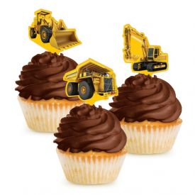 Construction Birthday Zone Cupcake Topper