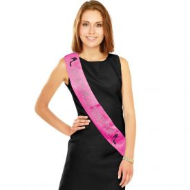 Bachelorette Sash Pink Satin with Glitter