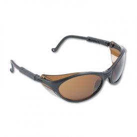 Uvex™ by Honeywell Bandit Safety Glasses, Black Frame, Espresso Lens