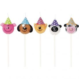 Candles Animal Heads Molded Pick Sets
