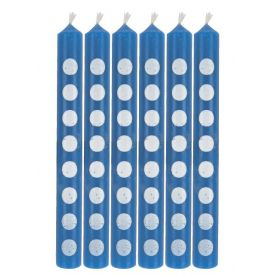 Candles with Dots True Blue