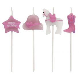 Candles Horse Pink and White Molded Pick Sets